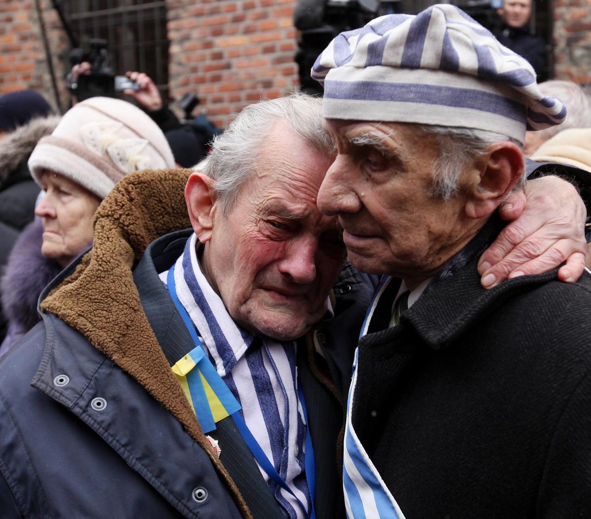 Spotkanie byłych ofiar Holocaustu w Auschwitz